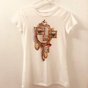 Armani Exchange white T-shirt in Small